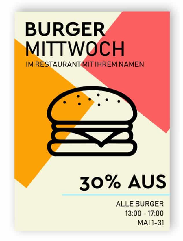 Burger Werbeschild