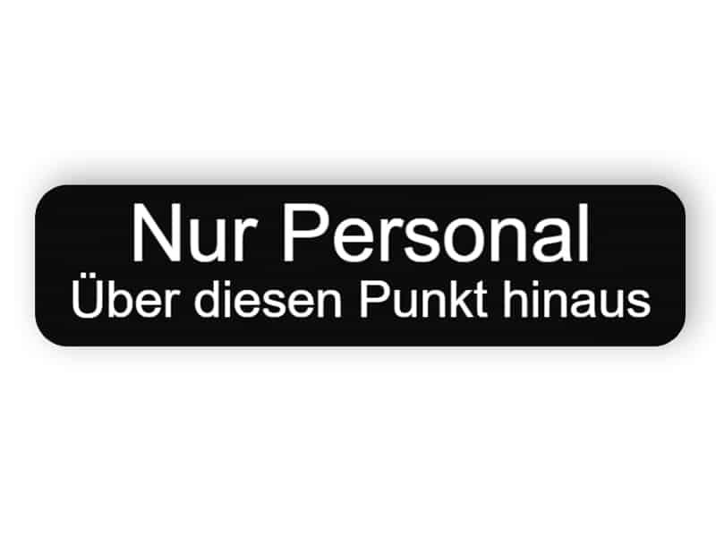 Personal nur Zeichen
