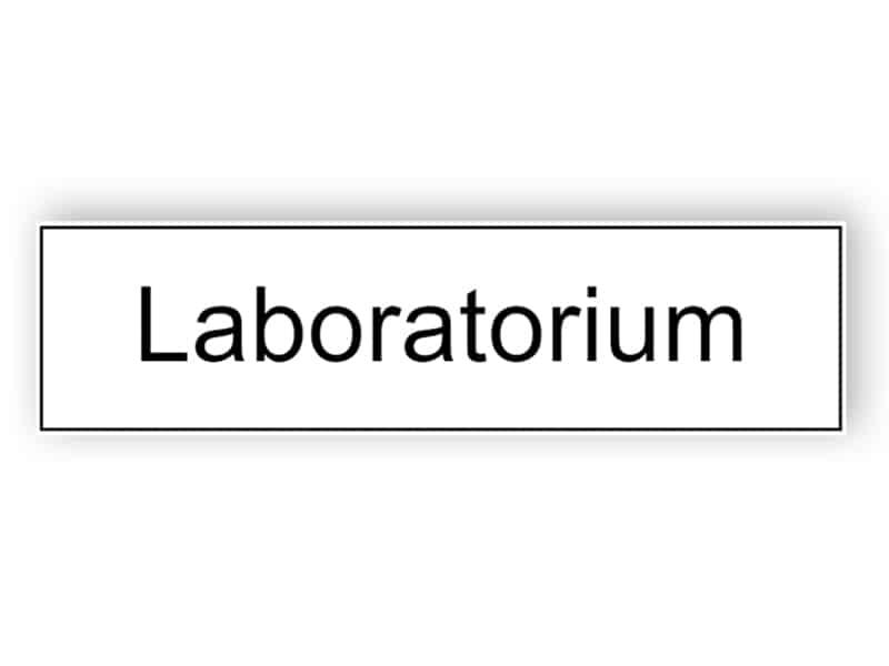 Weißes Laborzeichen