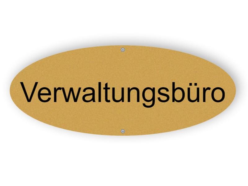 Mattgold Verwaltungsbüro Zeichen