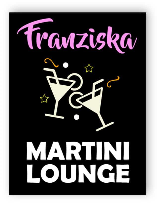 Martini-Lounge-Schild