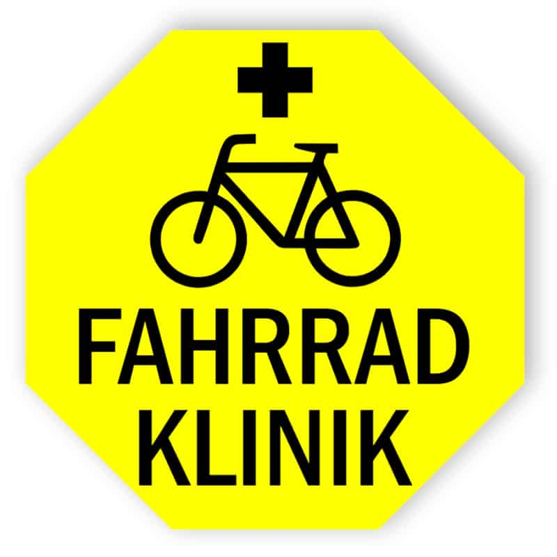 Fahrrad Klinik Schild