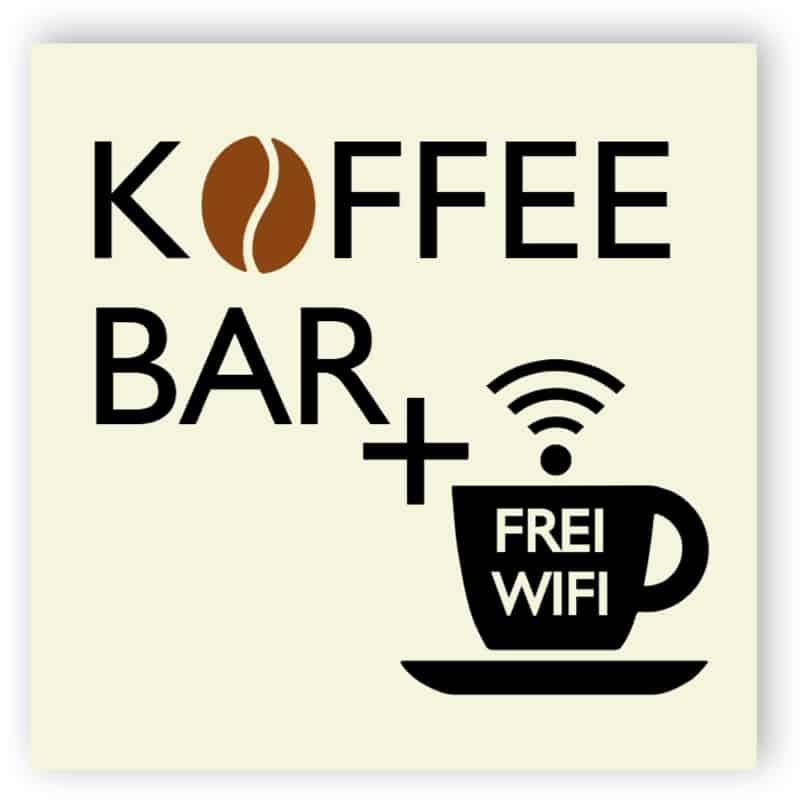 Café und kostenlose WiFi Schild