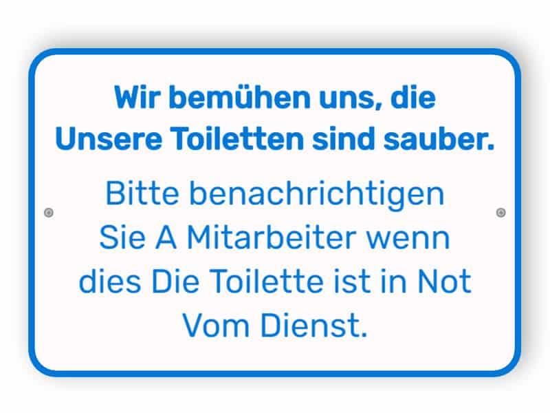Benachrichtigen, wenn die Toilette gereinigt werden muss