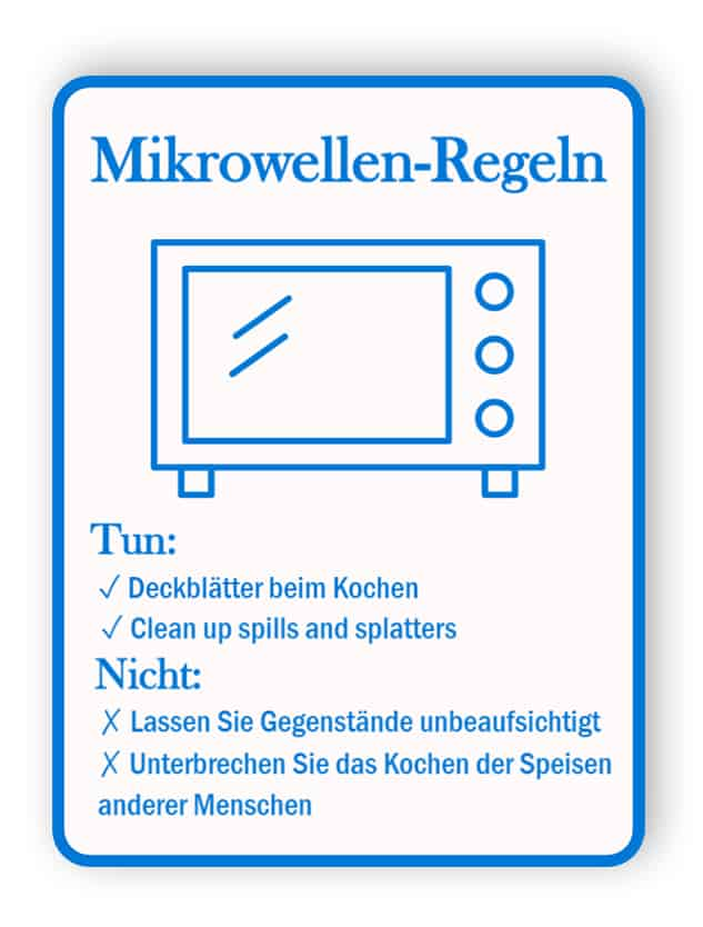 Mikrowellen-RegelSchild