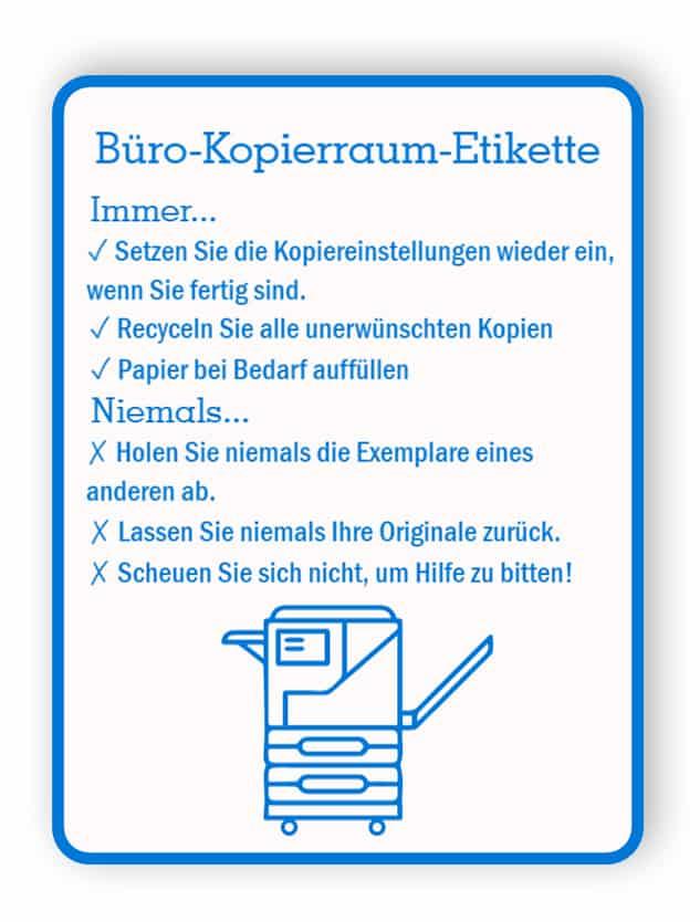 Etikettschild für Büroräume