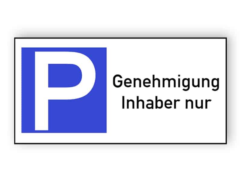 Parken - Inhaber nur