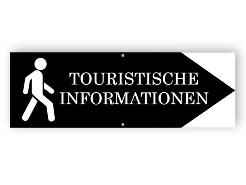 Touristische Informationen Zeichen