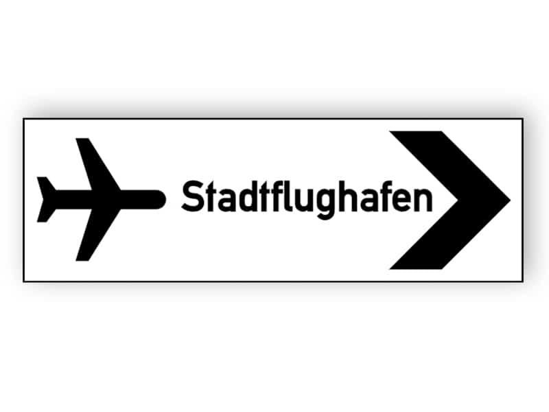 Stadtflughafen Zeichen