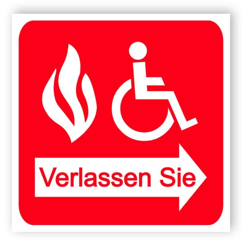 Brandschutzausgang - Schutzten Zeichen