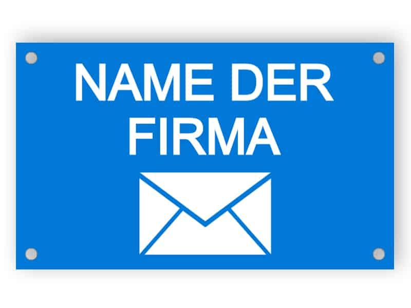 Blaue Briefkastenplatte