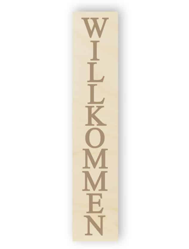Willkommenes Schild