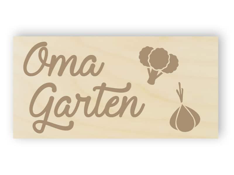 Garten der Großmutter Schild