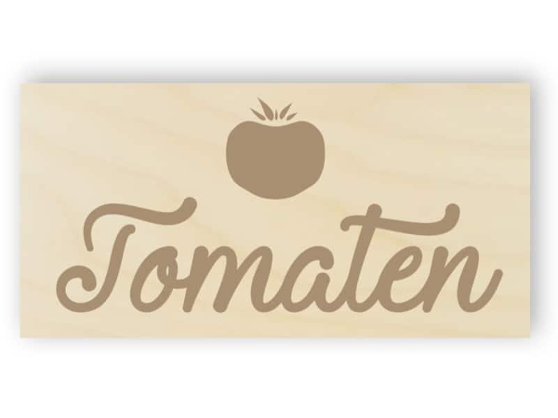 Tomaten Schild