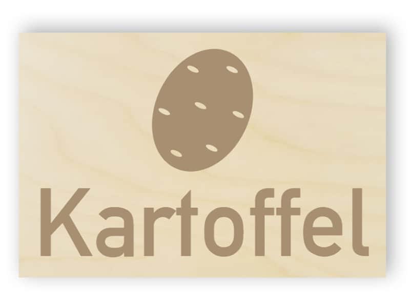 Kartoffel-Schild