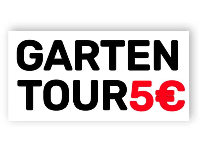 Garten-Tour Schild