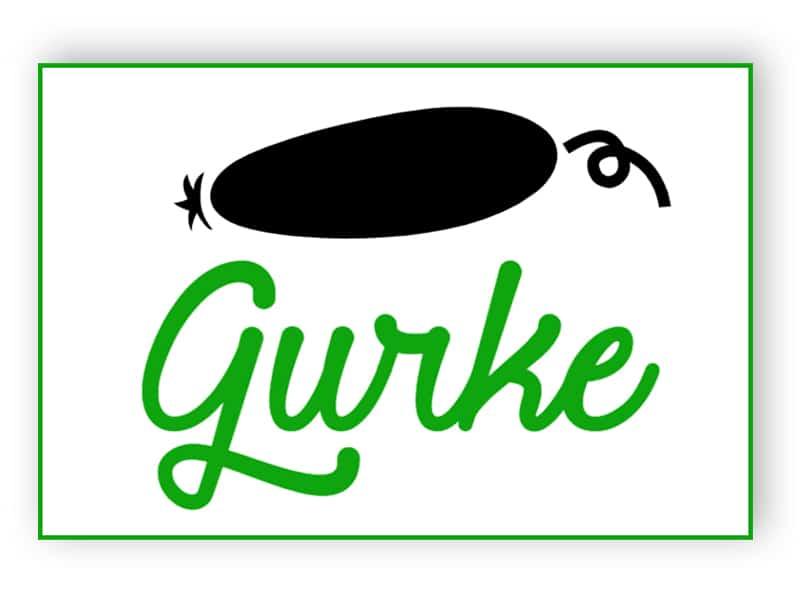 Gurke Schild
