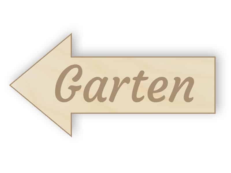 Holzpfeil Garten Zeichen