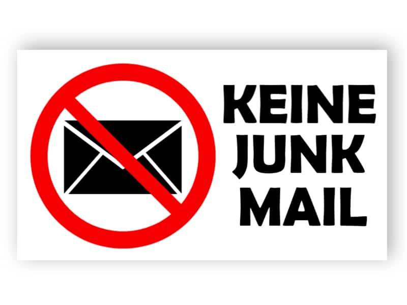 Kein Junk-Mail-Schild 3