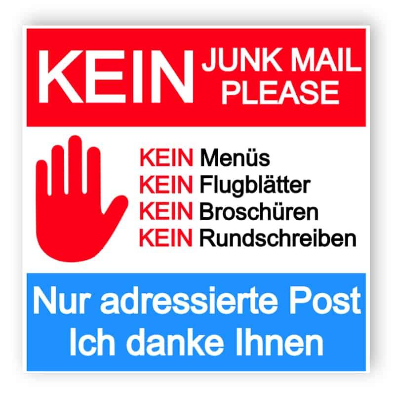 Kein Junk-Mail-Schild 6