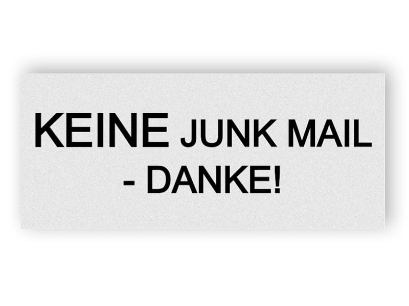 Silber kein Junk-Mail-Schild