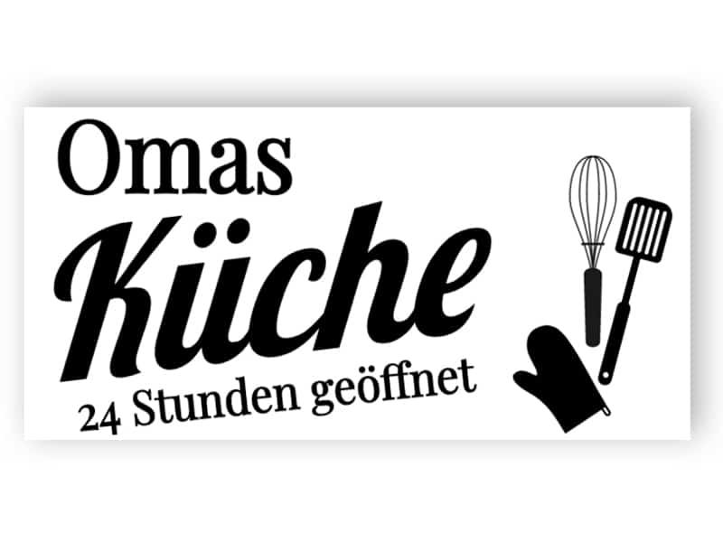 Omas Küche Zeichen