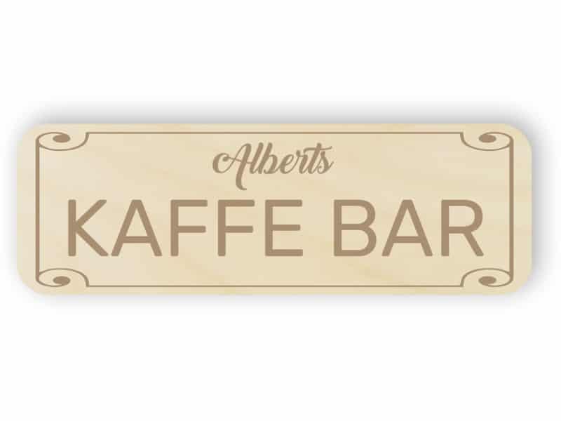 Kaffee-Bar Zeichen