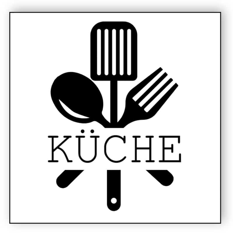 Schwarz-Weiß-Küche Zeichen