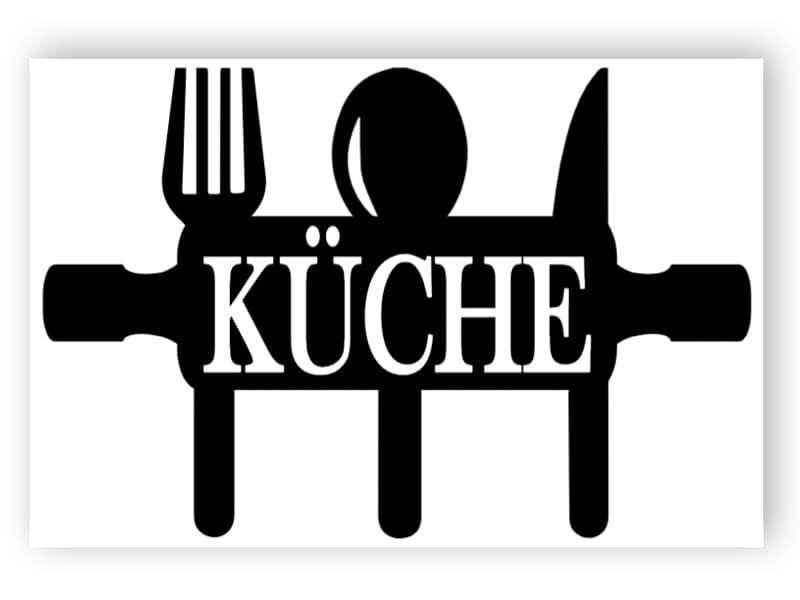 Schwarz-Weiß-Küche Zeichen 1