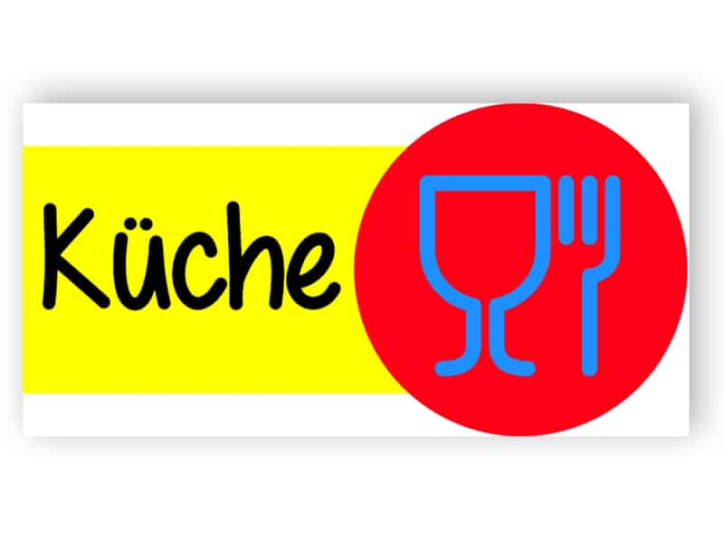 Bunte Küche Zeichen