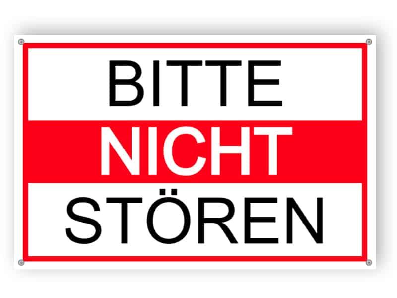 Bitte nicht stören Schild 1