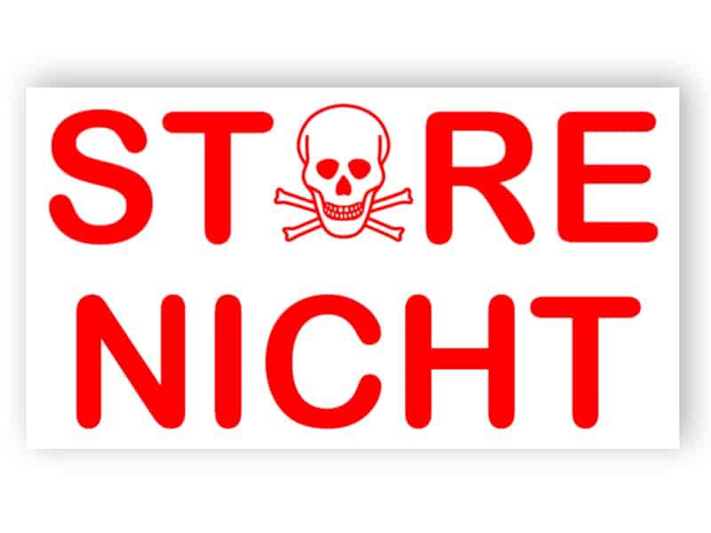 Bitte nicht stören - Rot Schild