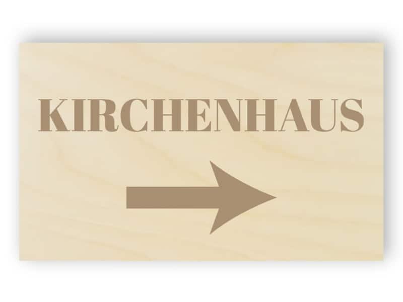 Hölzerne Kirche Hauszeichen