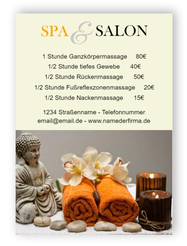 Spa und Salon Service Zeichen
