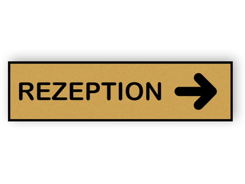 Rezeption Schild 1