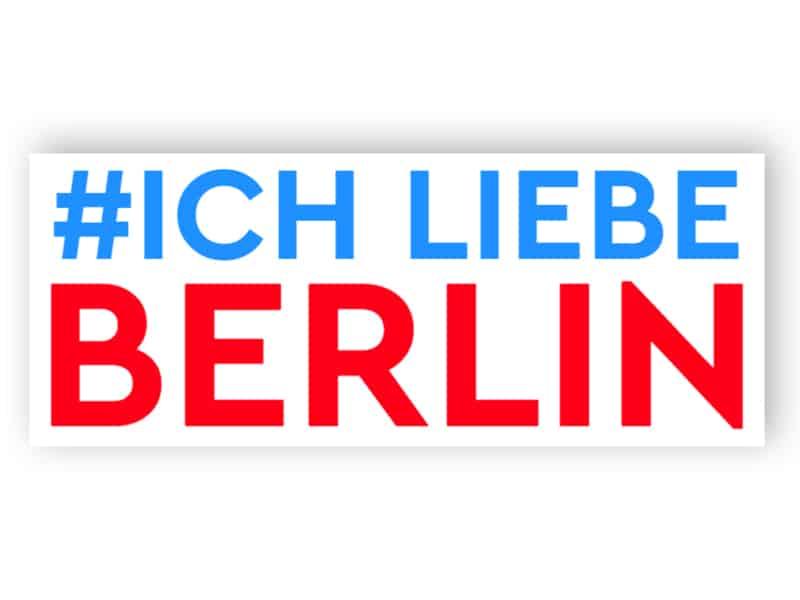 Ich liebe Berliner Schild