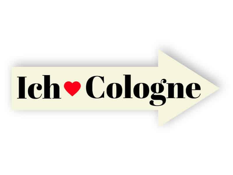 Ich liebe Cologne Schild
