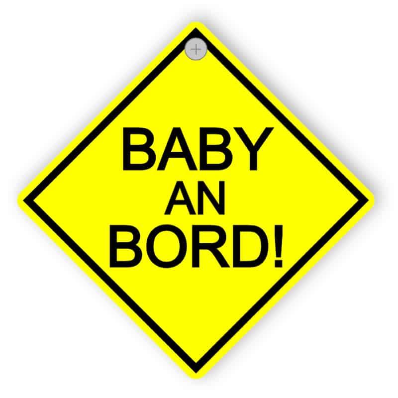 Auto-Schild - Baby an Bord