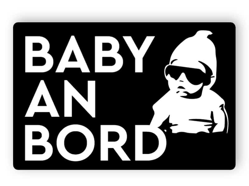 Coole Baby an Bord - schwarzer Aufkleber
