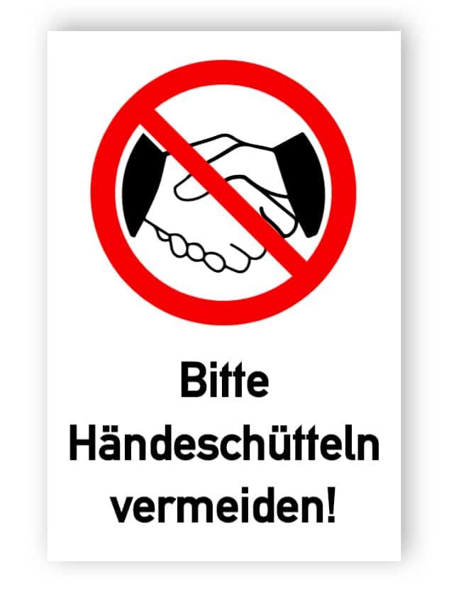 Bitte Händeschütteln vermeiden!