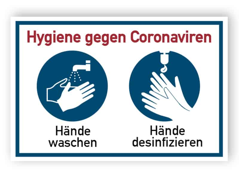 Hygiene gegen Coronaviren
