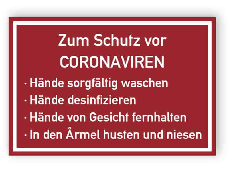 Zum Schutz vor Coronaviren
