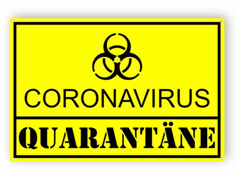 Coronavirus quarantäne