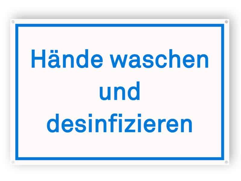 Hände waschen und desinfizieren