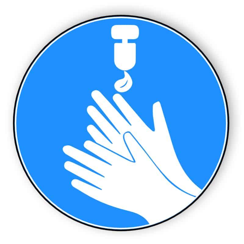 Desinfizieren Sie Ihre Hände - Aufkleber