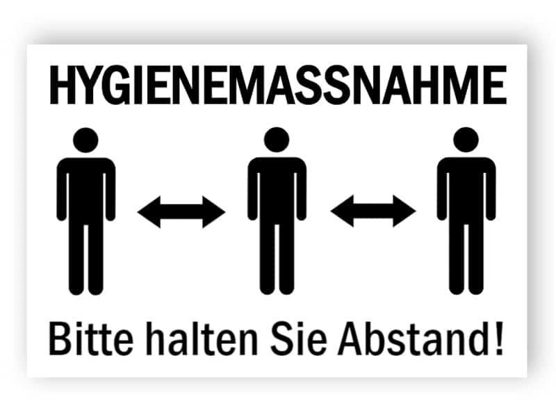 Hygienemassnahme - Aufkleber