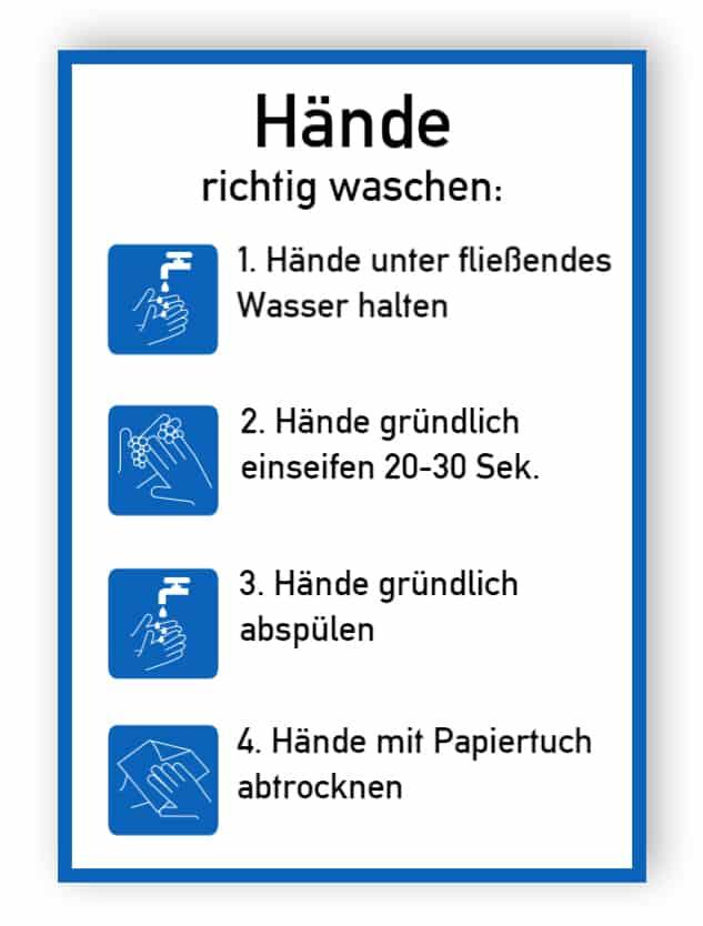 Hände richtig waschen - Aufkleber