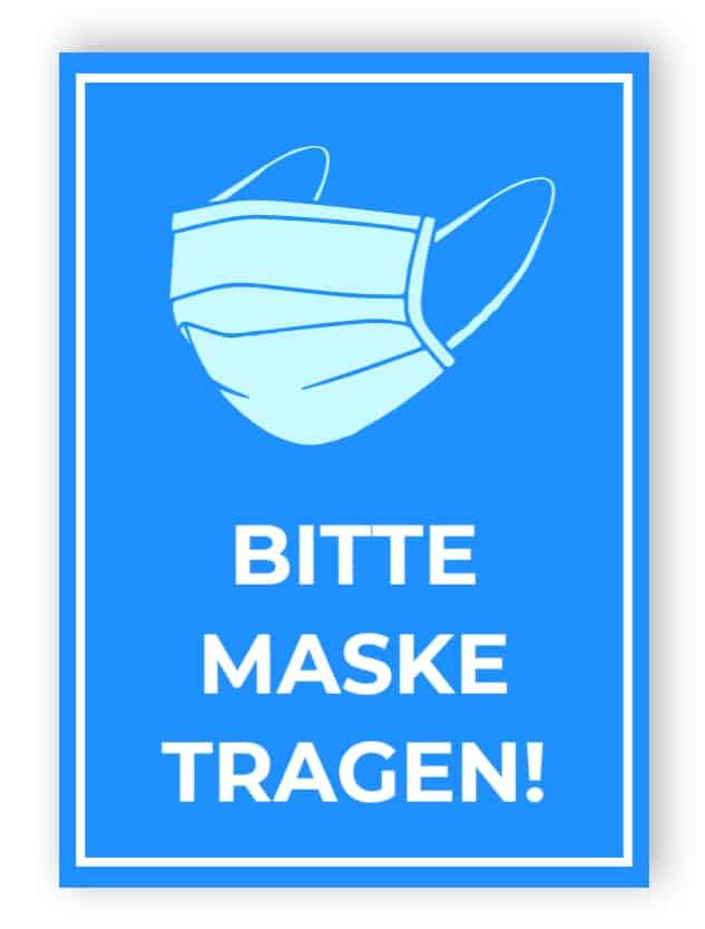 Bitte maske tragen - Aufkleber