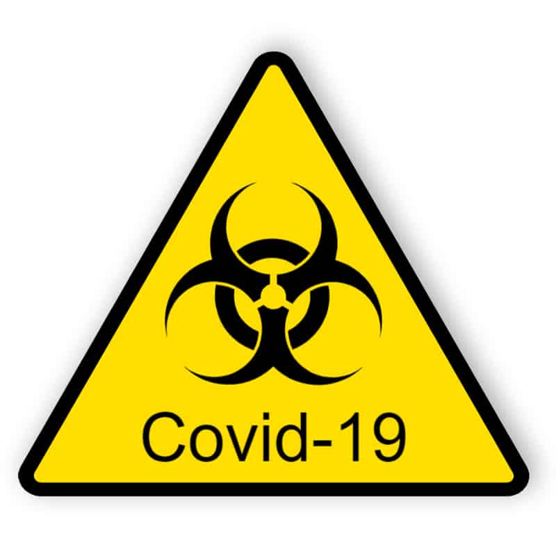 Covid-19 - Aufkleber