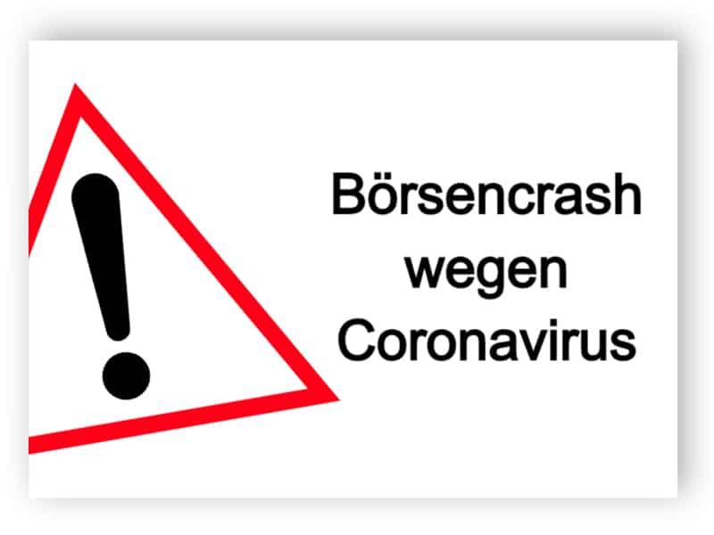 Börsencrash wegen Coronavirus